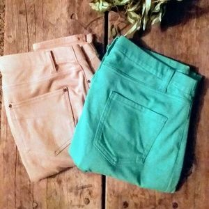 Faded Glory Jeggings Bundle 2 Pairs Size Large